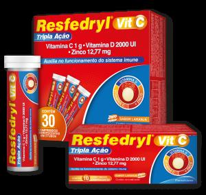Resfedryl Vit C 1g Tripla Ação - Medicamento para Gripes e Resfriados