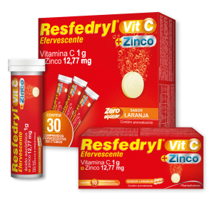 Resfedryl Vit C 1g + Zinco - Pastilha Efervescente - PharmaScience